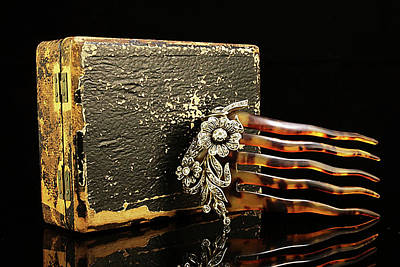 Photograph - Faberge Diamond Hair Comb And Case by Susan Maxwell Schmidt