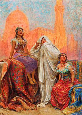 Photograph - Fabio Fabbi Three Women by Munir Alawi