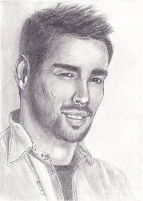 Drawing - Fabio Fognini by Veronica Rickard