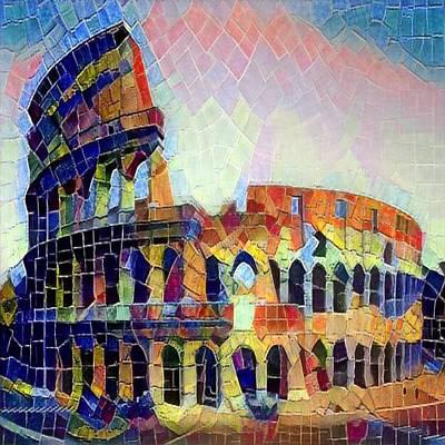 Digital Art - Fabio's Coliseum by Gerry Morgan
