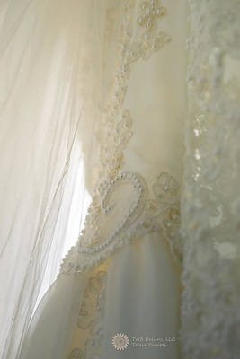 Photograph - Fabric Of A Bride by Teresa Blanton