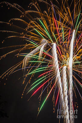 Photograph - Fabulous Fireworks by Joann Long