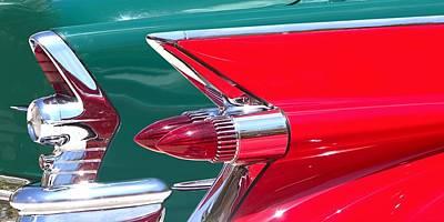 Sunday Drive Photograph - Fabulous Tail Fins by Chrystyne Novack