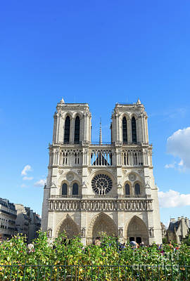 Photograph - Facade Of Notre Dame  by Anastasy Yarmolovich