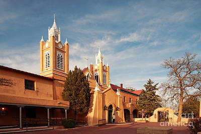 Facade Of San Felipe De Neri Church In Old Town Albuquerque - New Mexico Art Print
