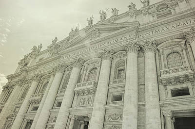 Photograph - Facade Of St Peter's by JAMART Photography