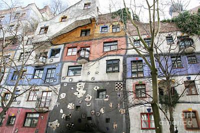 Facade Of The Hundertwasserhaus, Vienna, Austria Art Print by Jacky Telem