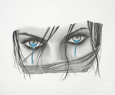 Crying Drawing - Facade Unveiled by Stephen McCall