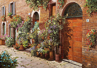 Royalty-Free and Rights-Managed Images - Facciata Fiorita Di Mattoni  by Guido Borelli