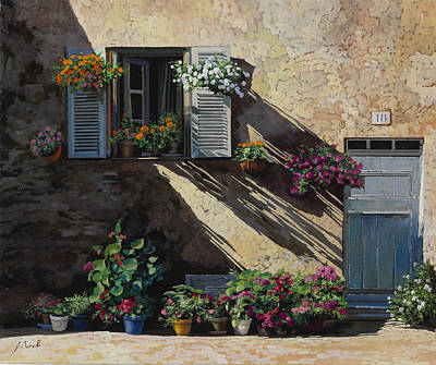 Wild Horse Paintings - Facciata In Ombra by Guido Borelli