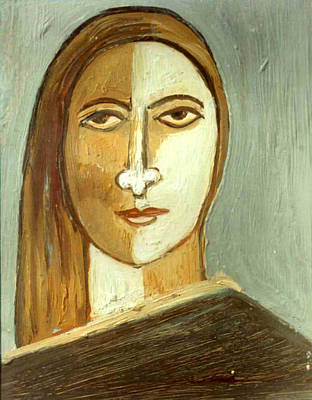 Ganga Painting - Face 10 by Anand Swaroop Manchiraju