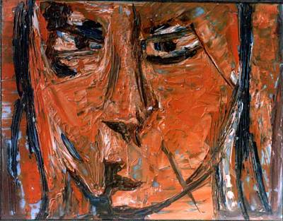 Painting - Face 12 by Anand Swaroop Manchiraju