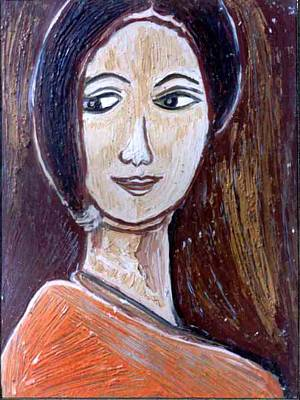 Painting - Face 9 by Anand Swaroop Manchiraju