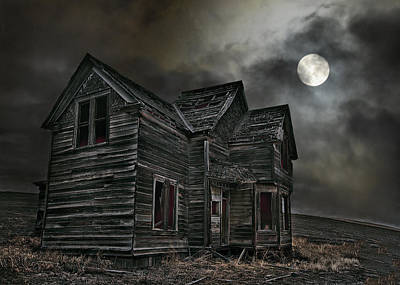 Haunted House Digital Art - Face At The Window by John Christopher