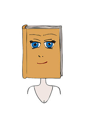 Manga Painting - Face Book by Frank Tschakert