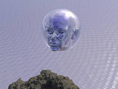 Digital Art - Face Bubble by Darren Cannell
