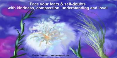 Digital Art - Face Fears And Self Doubt by Barbara Burns