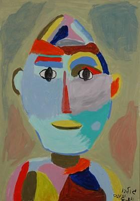 Face Art Print by Harris Gulko