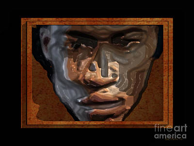 Face In A Box Art Print by Walter Oliver Neal