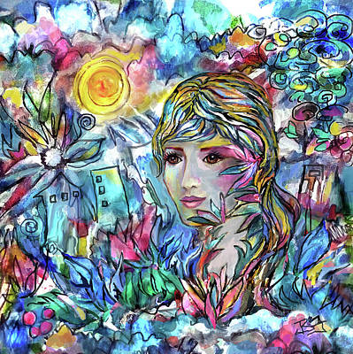 Digital Art - Face In A Dream by Jean Batzell Fitzgerald