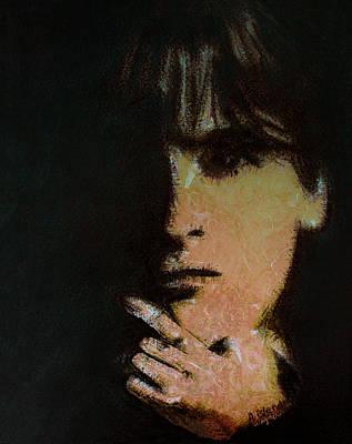 Women Digital Art - Face In The Shadow by Arline Wagner