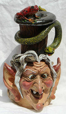 Sculpture - Face Jug Meg by Lauren  Marems
