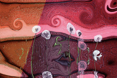 Digital Art - Face Lips by Linda Sannuti