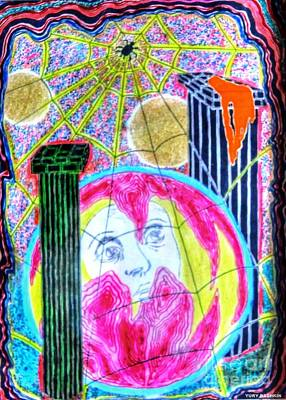 Drawing - Face Look Sky by Yury Bashkin
