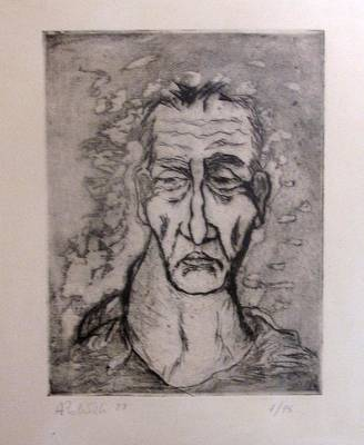 Face Marked By Fatigue Art Print by Alfonso Robustelli