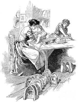 Face Mask Production, 19th Century Art Print