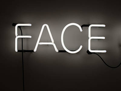 Photograph - Face Neon Sign by Joseph Skompski
