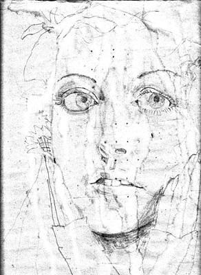 Face Of A Girl Art Print