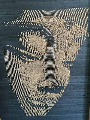 Face Of Buddha Original by Art by Lavero