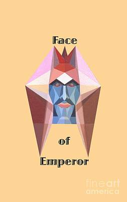 Painting - Face Of Emperor Text by Michael Bellon