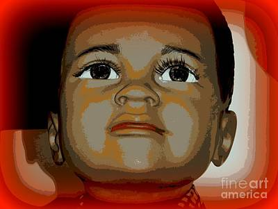 Digital Art - Face Of Innocence by Ed Weidman