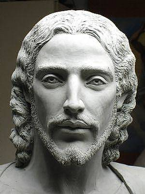 Sculpture - Face Of Jesus by Patrick RANKIN