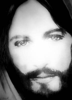 Pencil Drawing Of Jesus Drawing - Face Of Jesus by Susan  Solak
