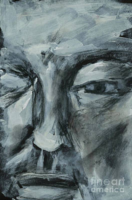 Painting - Face Of Man 1 Sketch by Edward Fielding