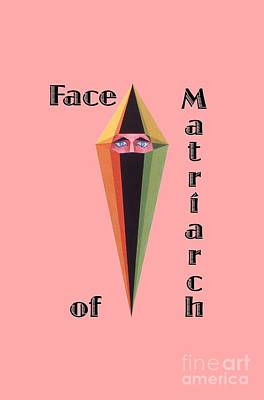 Painting - Face Of Matriarch Text by Michael Bellon