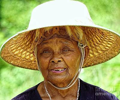 Digital Art - Face Of Rural Thailand by Ian Gledhill