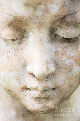 Face Of Stone Art Print by Neil Overy