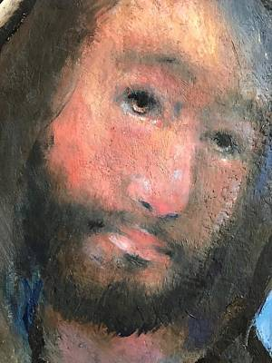Painting - Face Of The Christ by Daniel Bonnell
