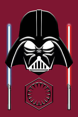 Digital Art - Face Of The Galactic Empire by John Haldane