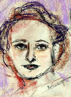 Face On A Page Art Print by Beth Sebring