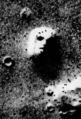 Aliens Mixed Media - Face On Mars by Paul Van Scott