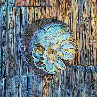 Shed Digital Art - Face On The Shed by Patricia Beil