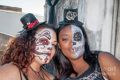 Photograph - Face Painted Friends On All Saints Day by Kathleen K Parker