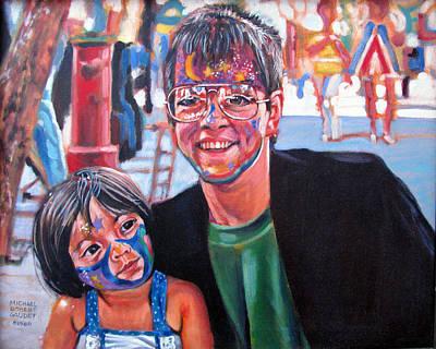 Face-painter Art Print by Michael Gaudet