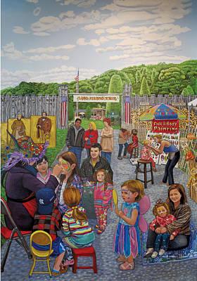 Face Painting At The Long Island Fair Art Print by Bonnie Siracusa