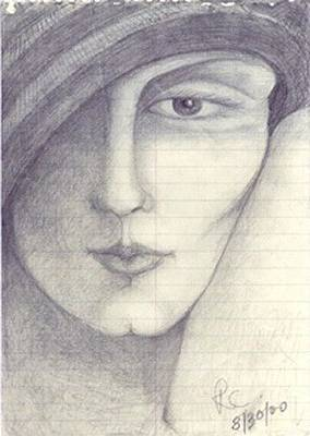 Drawing - Face by Rae Chichilnitsky